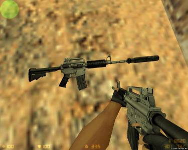 Black Solid M4A1 скриншот №1