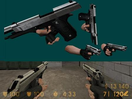 Akimbo92 Beretta Elite-silver (re-skin)(updated)