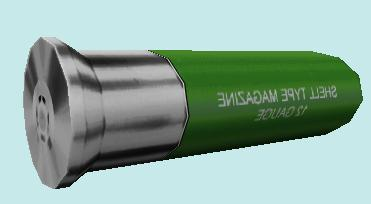 Green And Silver Shotgunshell