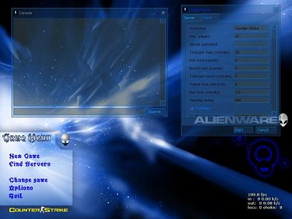 Alien Ware Blue Theme