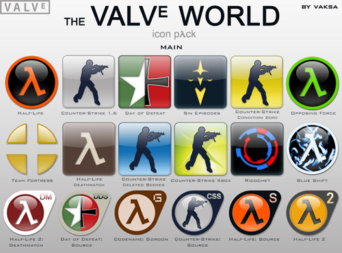 Valve World iconpack + Addon #1