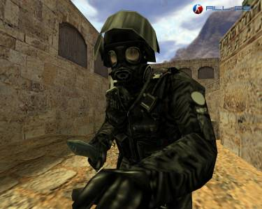 Black GIGN in Gas mask скриншот №3