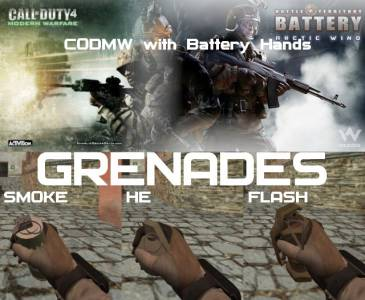 [CODMW+Battery] Grenades Pack [Flash, Smoke, He]