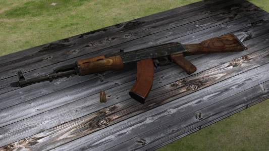 Mr.Rifleman's AKM on [Kopter's anims] (convert by <<<G@L>>>) скриншот №1