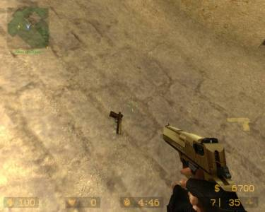 Gold Desert Eagle (by <<<G@L>>>) скриншот №1