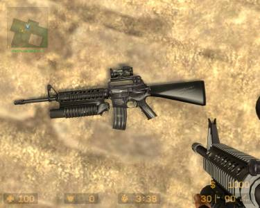 m16a3 aim point+m203(by <<<G@L>>>) скриншот №2