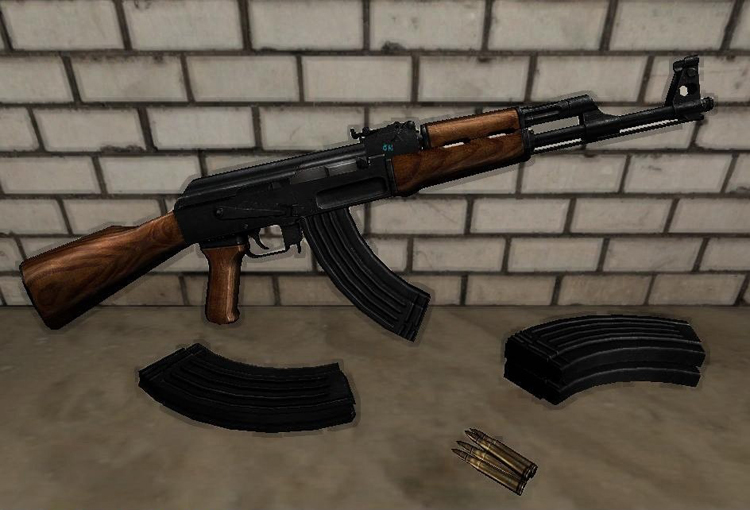 AK-47 on MW animations