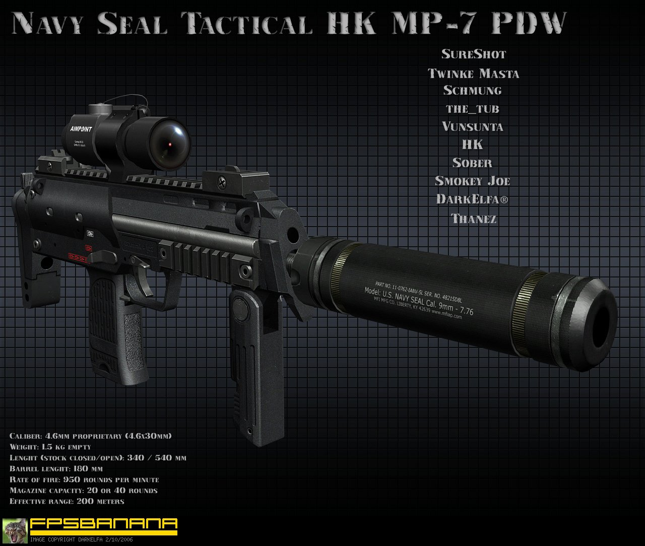 Navy Seal Tactical HK MP-7 PDW