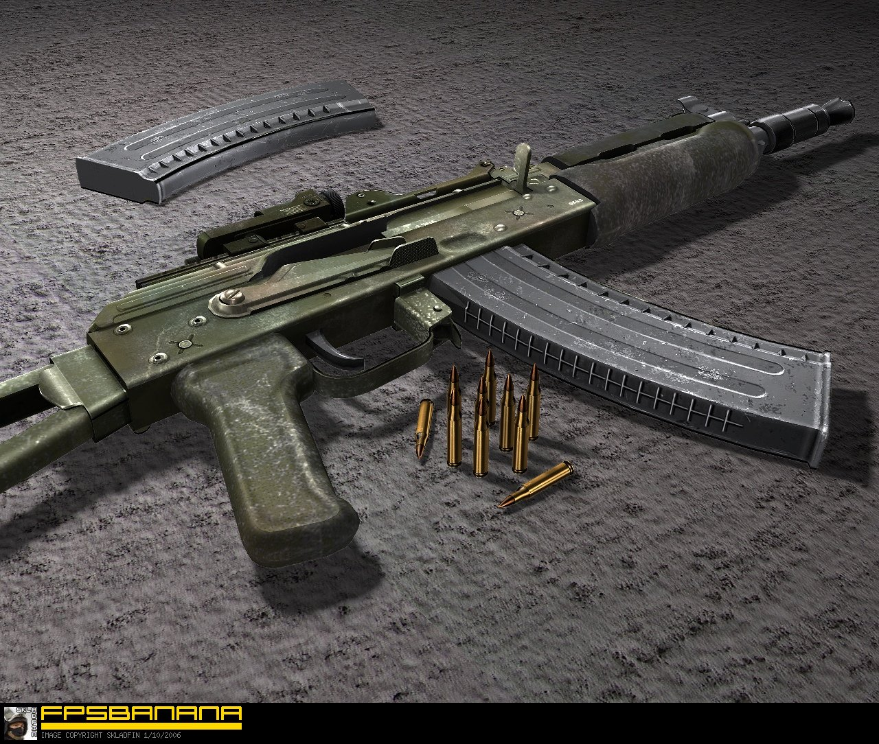 Battlefield2 AKS-74U - Special Forces Use