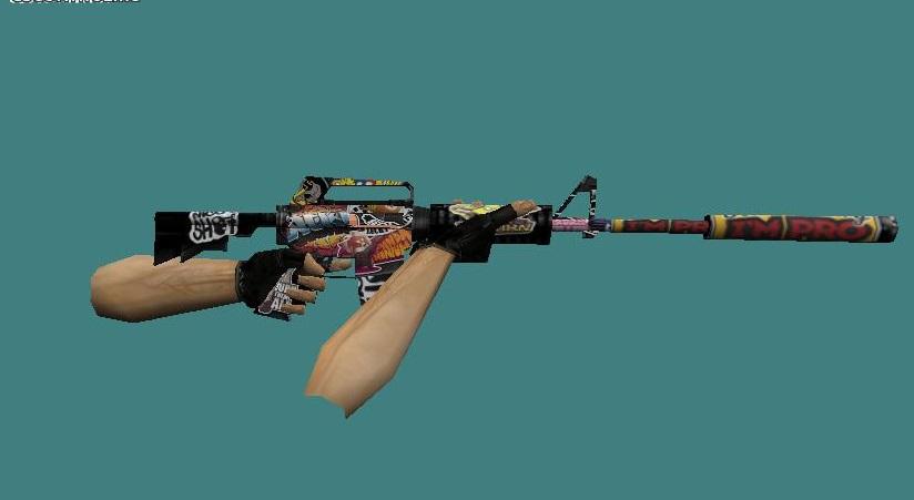Скачать модель оружия m16 scooter m4a1(огненная) модели оружия.