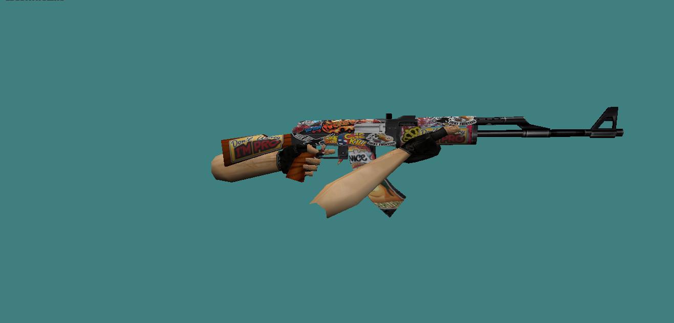 Модель оружия AK-47 (Скин кс 0.6)