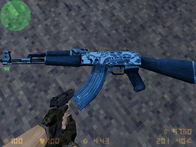 Модель AK-47 - край белого безмолвия Лед